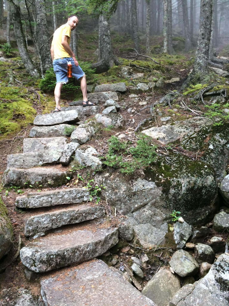 Granite steps, 995 in all, leading to the top of Mt. Mansell on the Perpendicular Trail.
