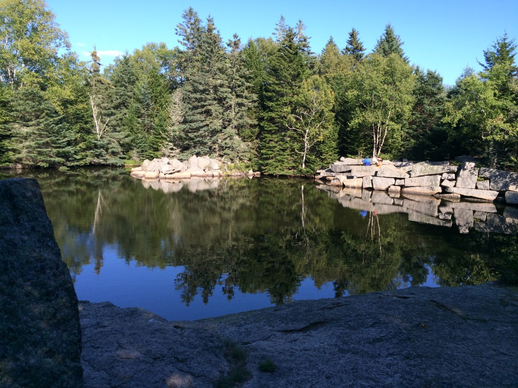 Fresh water quarry swimming hole on Green Island.