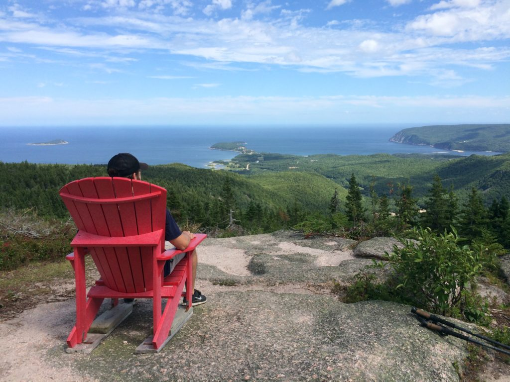 View from the top of Franey trail, Cape Breton Highlands National Park.