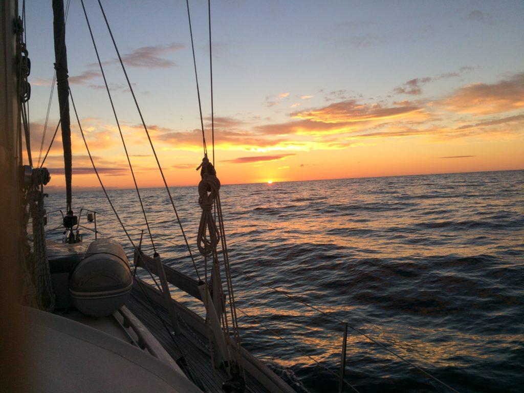 Crossing sunrise