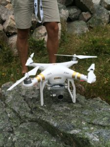 Drone ready for liftoff